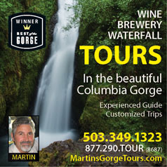 Gorge Tours Ad Columbia River Gorge Magazine