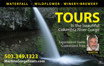 Gorge Tours Ad, Skamania County Visitor's Guide 02016
